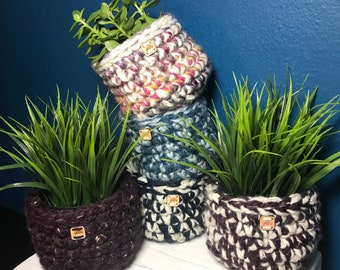 Crochet Basket Planter