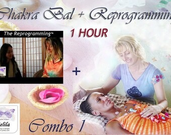 CD for Healing and 1 Hour Chakra Bal & Reprog - 1 Hour Healing Session Combo -  with Jelila