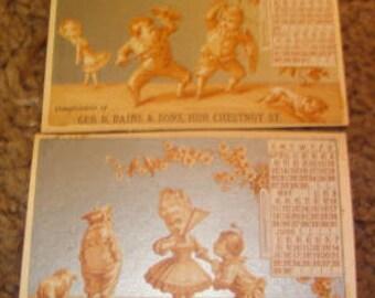 LAST CHANCE SALE 2 Vintage Victorian Scraps
