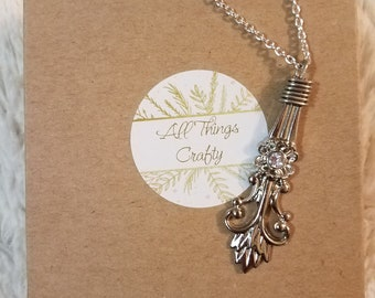 Wire Wrapped Spoon Necklace