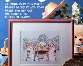 For The Love Of Cross Stitch Vintage Cross Stitch Pattern Magazine May 1990