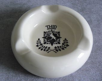 Lovely Ashtray Featuring the Hotel Chain The Trust Houses - Pre 1970 Chic!