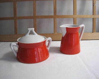 Vintage set sugar Creamer / Vintage Together Sugar bowl and dairyman