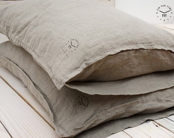 LINEN PILLOWCASE - Natural Flax - Linen Pillow Cover - Linen Pillow Case - Natural Pillow Case - Linen Wedding Gift