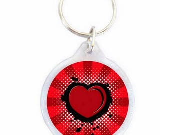 Red heart Keyring - Keychain