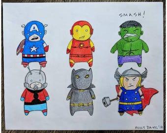Print. Mini Avengers.