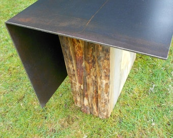 Plate Steel Top Table