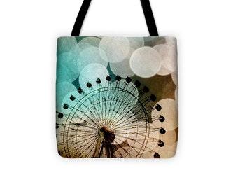 Art Tote Bag At the Fair fine art photography Ferris Wheel