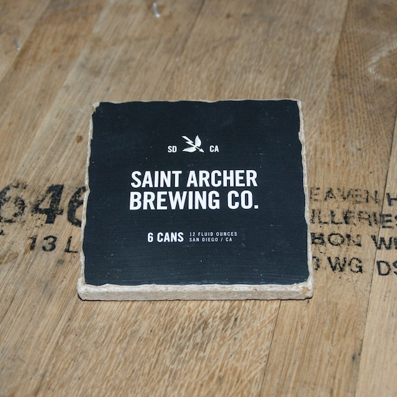UPcycled Coaster - Saint Archer Brewing Co. - Black 6 Pack