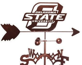 Hand Made Oklahoma State Cowboys Weathervane New