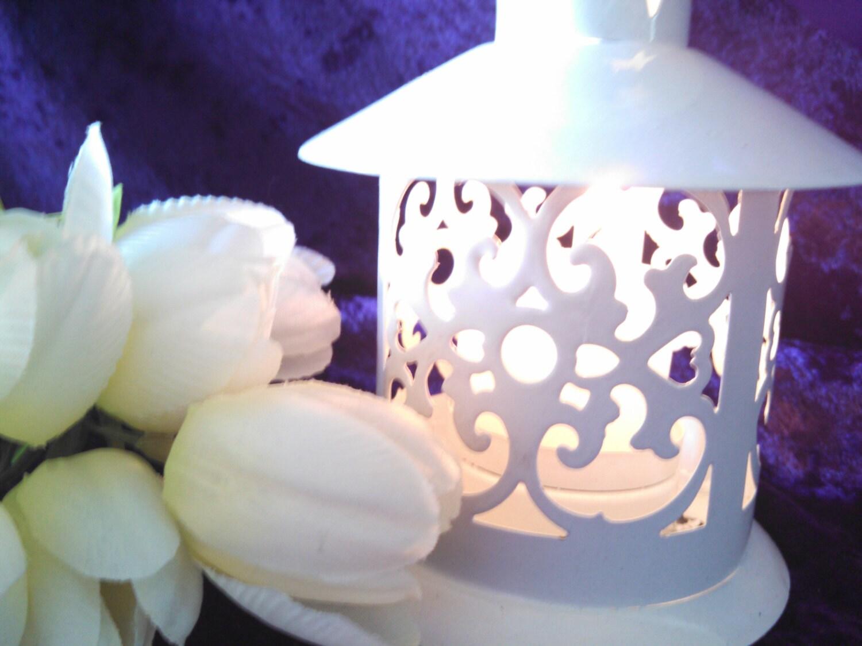 Pagoda Style Mini White Lantern table decoration - wedding reception ...