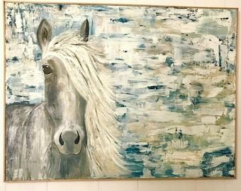 "Custom Acrylic Painting ""Wildfire"" Horse"