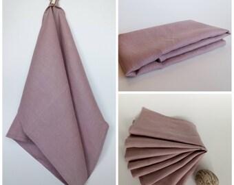 Linen Kitchen Towel – Dusty Pink, Dish Towel, Tea Towel