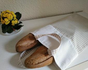 Bread Bag Bread Bag Frames White Broken Ocher Handles