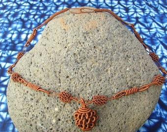 Senegal - Brown - necsene02 Draht Halskette