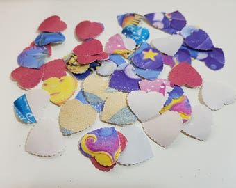 100 hearts in adhesive paper, 1mm. for scrapbooking / planner