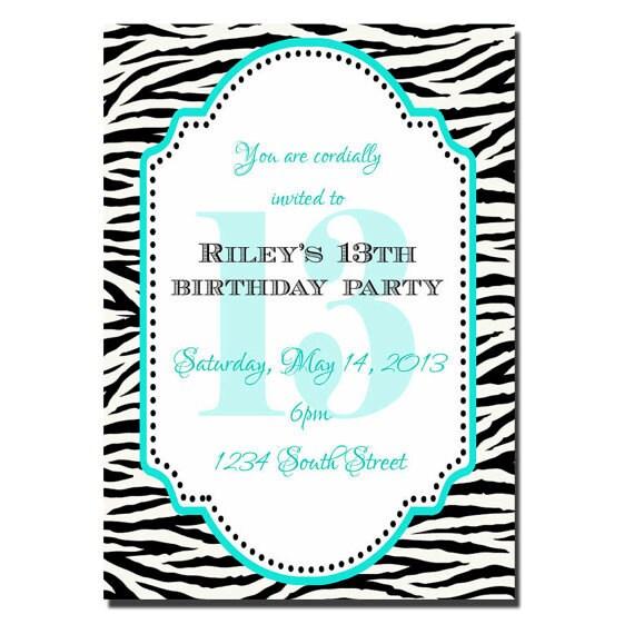 13th birthday party invitation girl birthday invitation like this item filmwisefo Gallery