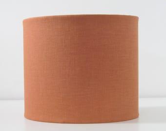 Orange lampshade etsy handmade burnt orange drum lampshade lightshade textured linen choice of colours aloadofball Gallery