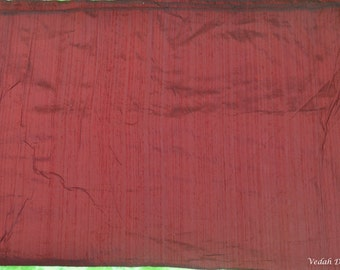 Pure dupioni Burgundy Red silk Fabric Indian fabric Dupion Fabric by the yard