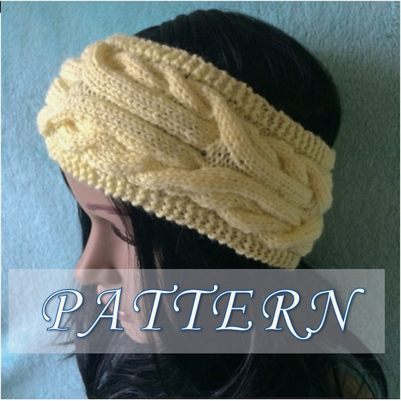 Pattern Cable Headband Pattern Knitted Ear Warmer