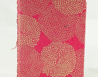 Pink Golden Mums Lined Notebook