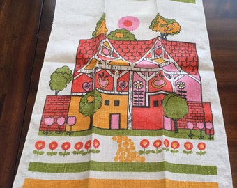 Colorful Linen Kitchen Towel