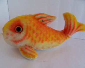 Steiff fish button mohair large made in Germany 1824