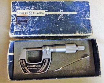 Scherr Tumico Micrometer 64 0301 04 comes in original Box St James Minn Machinist tool USA