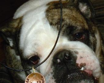 Custom Pet Tag Copper Pendant CS112