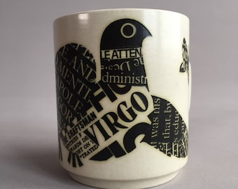 Hornsea mug newsprint Virgo 1977
