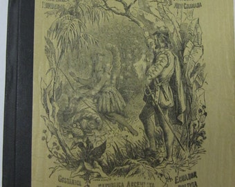 number 1 school spelling and word use book Libro De Lectura late 1800's