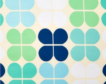 "End of Bolt - 17.5"" Fabric - Robert Kaufman - Geo Pop Canvas - Flower Lagoon Canvas - 17.5"" x 44"" Fabric"