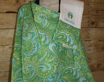 Nursing Cover-up with matching Burp Cloth