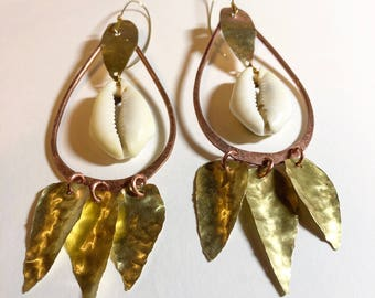 Statement Cowrie Shell Earrings