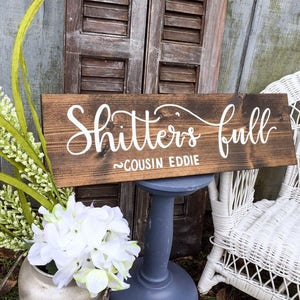 Shitters Full Bathroom Wall Decor Camping Funny Bathroom Sign Bathroom Decor  Rustic Wood Sign Camp Decor