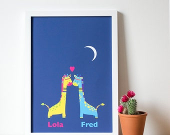 Lola and Fred A3 Print