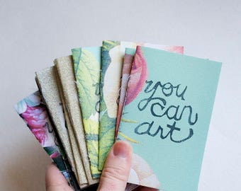 you can art: Mini Zine [free shipping within usa] diy limited edition print handprinted inspiration book indie - Handcrafted in Kansas
