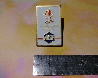 Enamel pin vintage AGF Alberville 1992 Olympic Games pins
