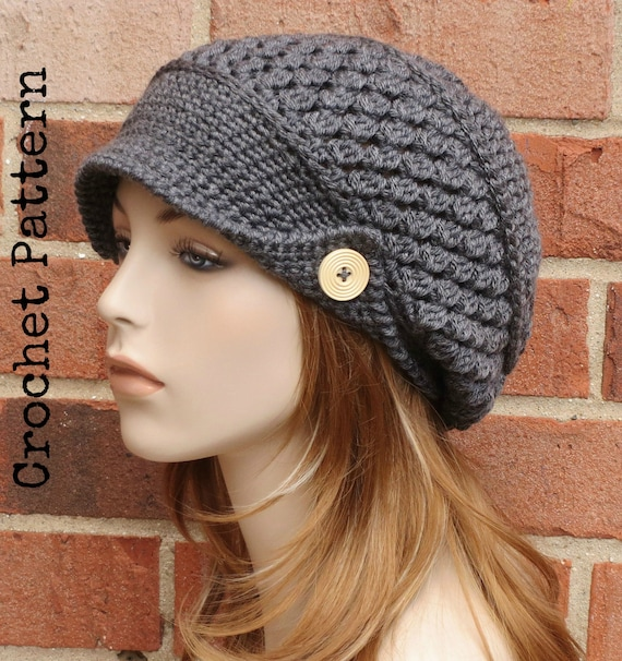 Crochet Hat Pattern Instant Download Pdf Finley Newsboy Slouchy
