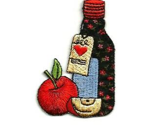 Country - Bottle - Cider - Apple - Cider - Vinyard - Iron On Applique Patch