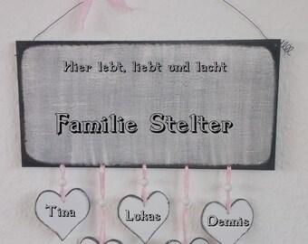 Decorative sign individual welcome door sign Handmade