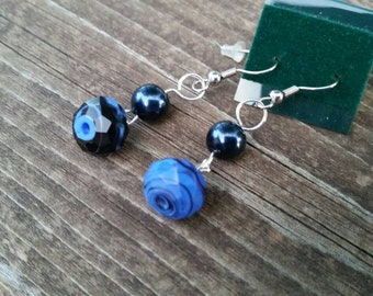 Thin Blue Line Earrings - Womens Jewelry - Law Enforcement Support - Walk the Line - LEO - Police Officer Awareness - USA - Fallen Heroes