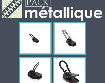 Pack of metal sliders