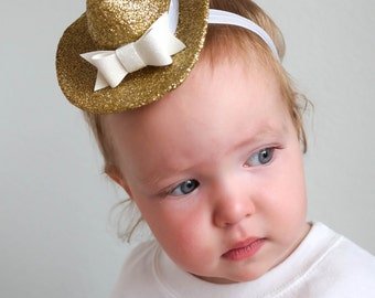 Gold baby Cowgirl or Cowboy Hat, First birthday Cowgirl Hat, Cowgirl hat, Cowboy Hat, Gold Cowgirl Hat, Gold Cowboy Hat