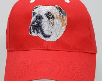 English Bulldog Cap, different hat colors to choose from