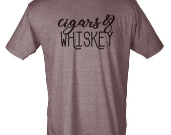 Cigars & Whiskey - Hipster Unisex Tee