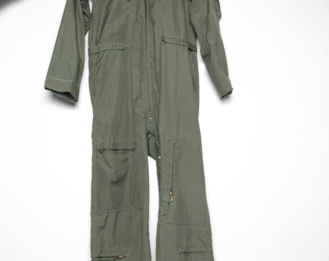 Vintage Camouflage Army Jumpsuit