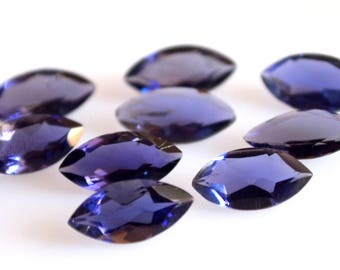 Natural Blue Iolite marquise cut faceted 6x12 loose gemstone -high quality gemstone