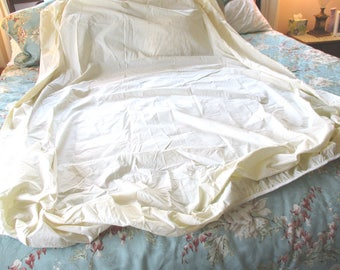 Vintage NOS Full Fitted Sheet in Ecru by Westfield Pepperell, Ecru, Ivory, Matrex