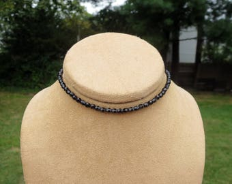 Black Choker Necklace, Dainty Cool Layering Beaded Jewelry, Funky Edgy Beaded Choker,Bold and Funky Present for Everyday, 90s Fashion Style